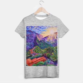 Thumbnail image of Sunset in green mountains T-shirt regular, Live Heroes