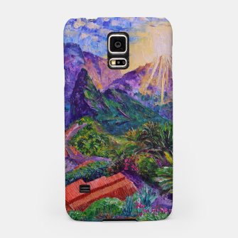 Thumbnail image of Sunset in green mountains Samsung Case, Live Heroes