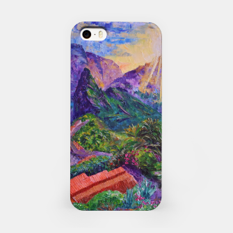 Thumbnail image of Sunset in green mountains iPhone Case, Live Heroes