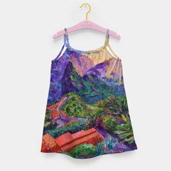 Thumbnail image of Sunset in green mountains Girl's dress, Live Heroes