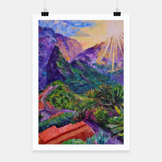 Thumbnail image of Sunset in green mountains Poster, Live Heroes
