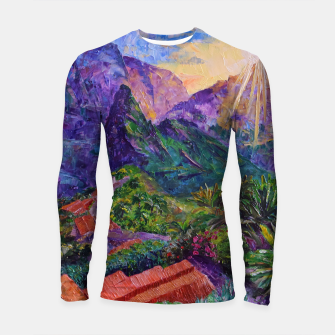 Thumbnail image of Sunset in green mountains Longsleeve rashguard , Live Heroes
