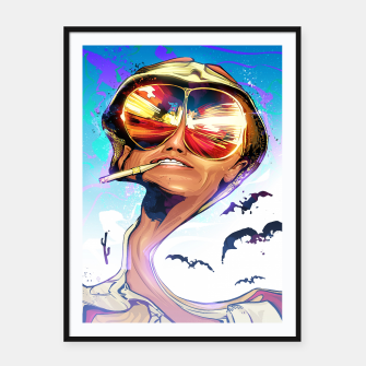 Thumbnail image of Fear and Loathing Framed poster, Live Heroes