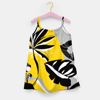 Miniatur abstract tropical plants Girl's dress, Live Heroes
