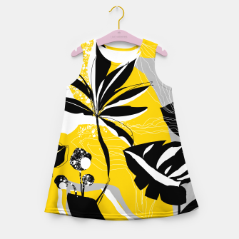 Miniatur abstract tropical plants Girl's summer dress, Live Heroes