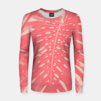 Thumbnail image of Monstera Finesse #2 #tropical #decor #art  Frauen sweatshirt, Live Heroes