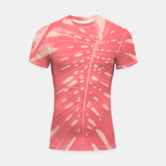 Thumbnail image of Monstera Finesse #2 #tropical #decor #art  Shortsleeve rashguard, Live Heroes
