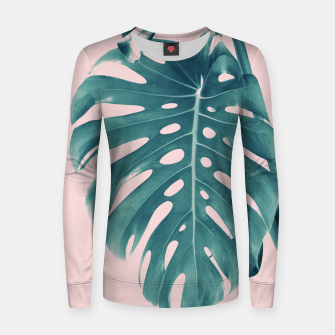 Thumbnail image of Monstera Delight #3 #tropical #decor #art Frauen sweatshirt, Live Heroes