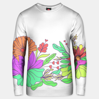 Thumbnail image of Floral tropical illustration Unisex sweater, Live Heroes