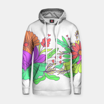 Thumbnail image of Floral tropical illustration Hoodie, Live Heroes