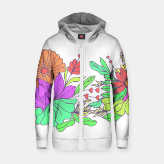 Thumbnail image of Floral tropical illustration Zip up hoodie, Live Heroes