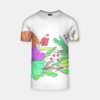 Thumbnail image of Floral tropical illustration T-shirt, Live Heroes