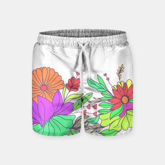 Thumbnail image of Floral tropical illustration Swim Shorts, Live Heroes