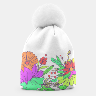 Thumbnail image of Floral tropical illustration Beanie, Live Heroes