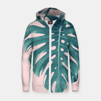 Thumbnail image of Monstera Delight #3 #tropical #decor #art Reißverschluss kapuzenpullover, Live Heroes