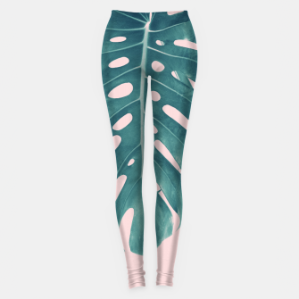Thumbnail image of Monstera Delight #3 #tropical #decor #art Leggings, Live Heroes