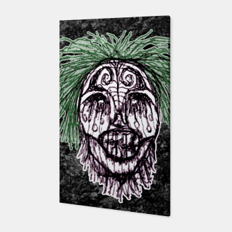 Thumbnail image of Creepy Zombie Head Illustration Canvas, Live Heroes
