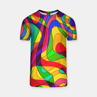 Thumbnail image of Layered Abstraction T-shirt, Live Heroes