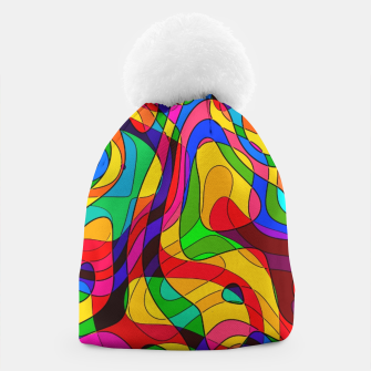 Thumbnail image of Layered Abstraction Beanie, Live Heroes