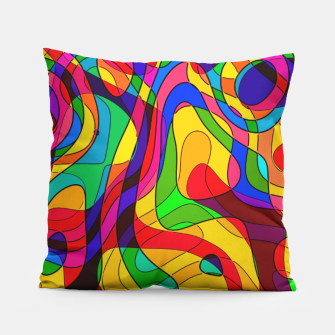 Thumbnail image of Layered Abstraction Pillow, Live Heroes