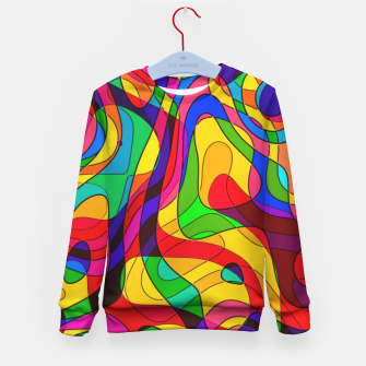 Thumbnail image of Layered Abstraction Kid's sweater, Live Heroes