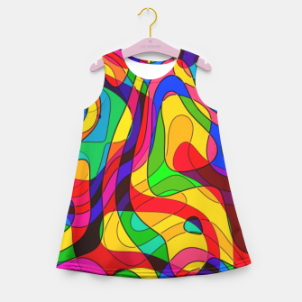 Thumbnail image of Layered Abstraction Girl's summer dress, Live Heroes