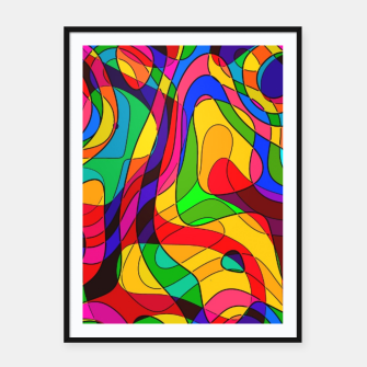 Thumbnail image of Layered Abstraction Framed poster, Live Heroes