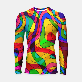 Thumbnail image of Layered Abstraction Longsleeve rashguard , Live Heroes