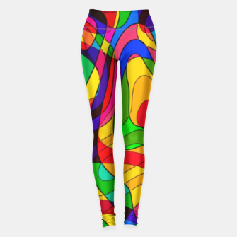Thumbnail image of Layered Abstraction Leggings, Live Heroes