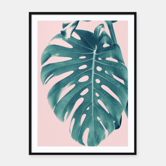 Thumbnail image of Monstera Delight #3 #tropical #decor #art Plakat mit rahmen, Live Heroes