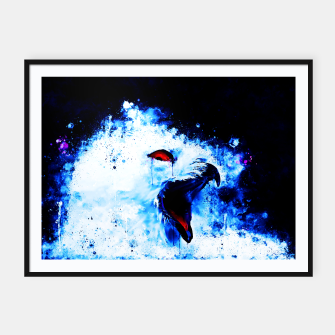 Thumbnail image of snow owl wsc80 Framed poster, Live Heroes