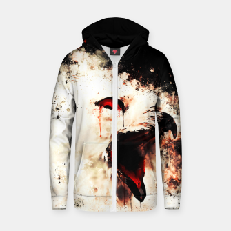 Thumbnail image of snow owl wsstd Zip up hoodie, Live Heroes