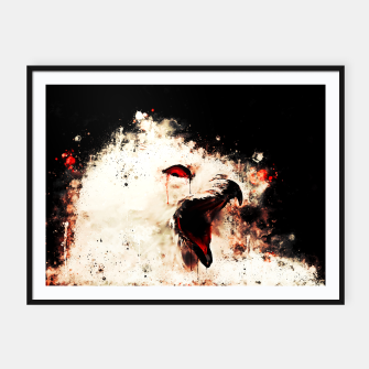 Thumbnail image of snow owl wsstd Framed poster, Live Heroes