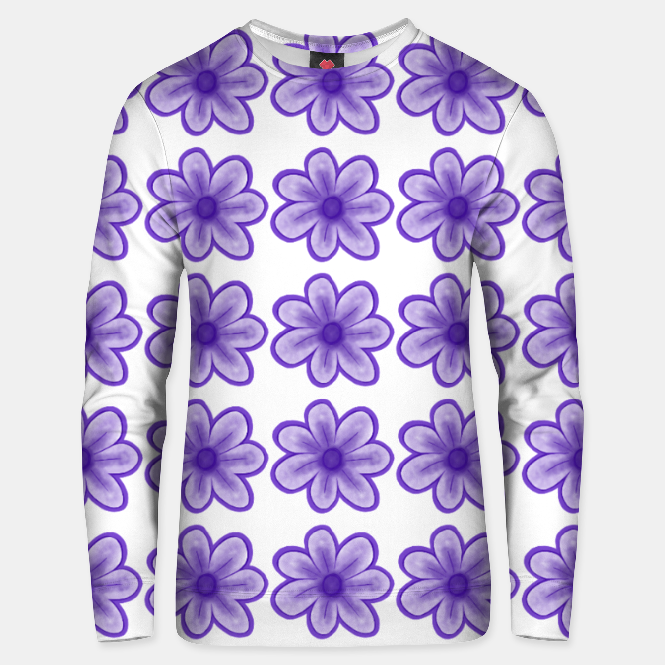 Image of mauve flowers Unisex sweater - Live Heroes