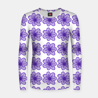 mauve flowers Women sweater thumbnail image