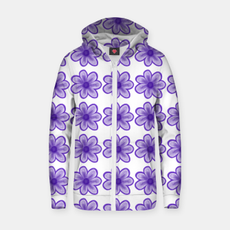 mauve flowers Zip up hoodie thumbnail image