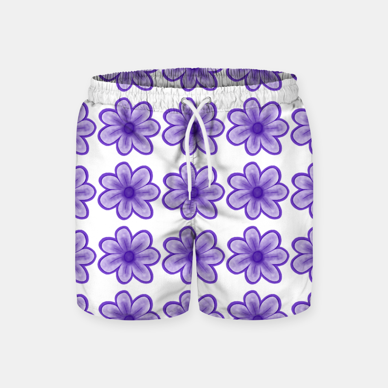 Image of mauve flowers Swim Shorts - Live Heroes