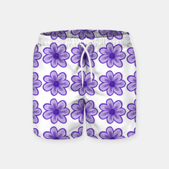 mauve flowers Swim Shorts thumbnail image