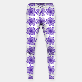 mauve flowers Sweatpants thumbnail image