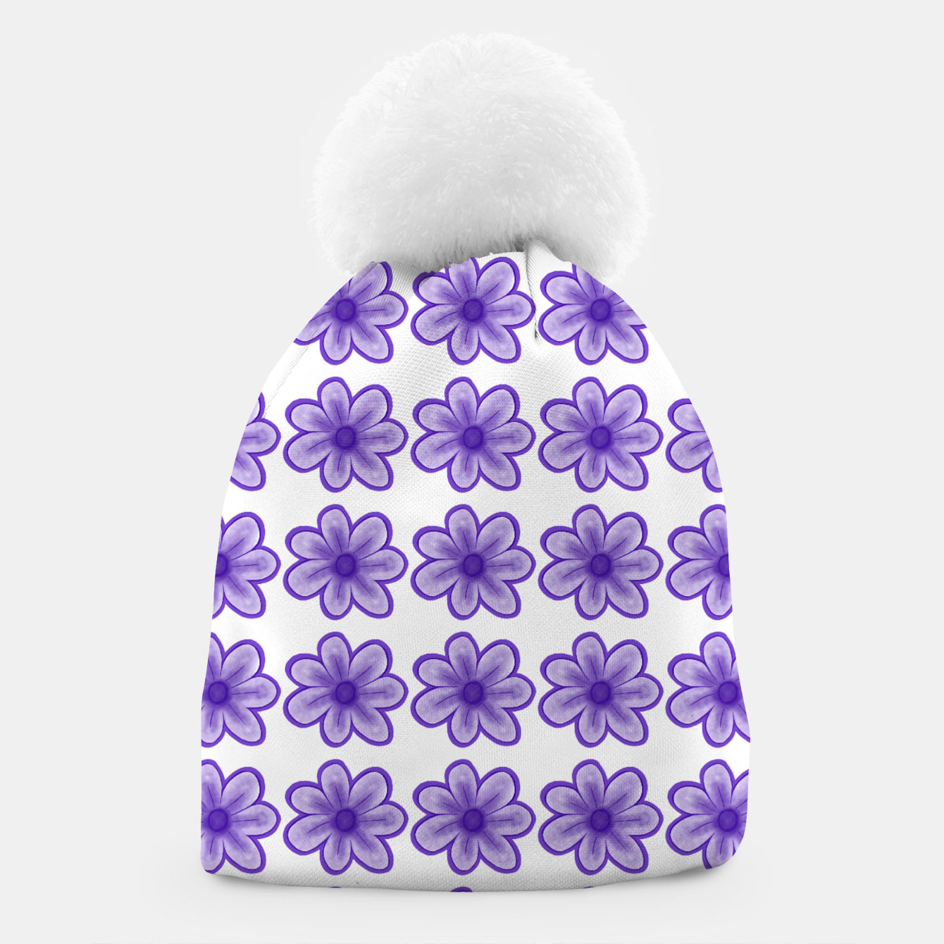Image of mauve flowers Beanie - Live Heroes