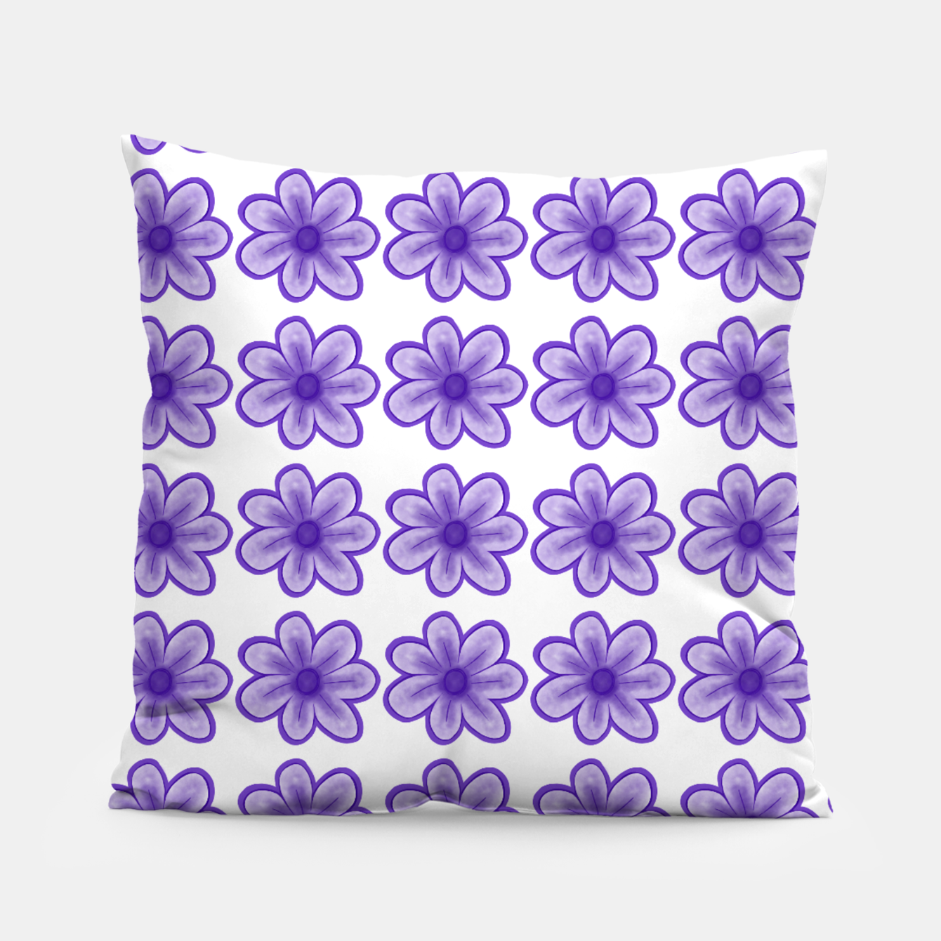 Image of mauve flowers Pillow - Live Heroes