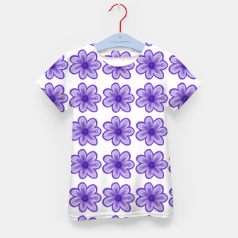 mauve flowers Kid's t-shirt thumbnail image