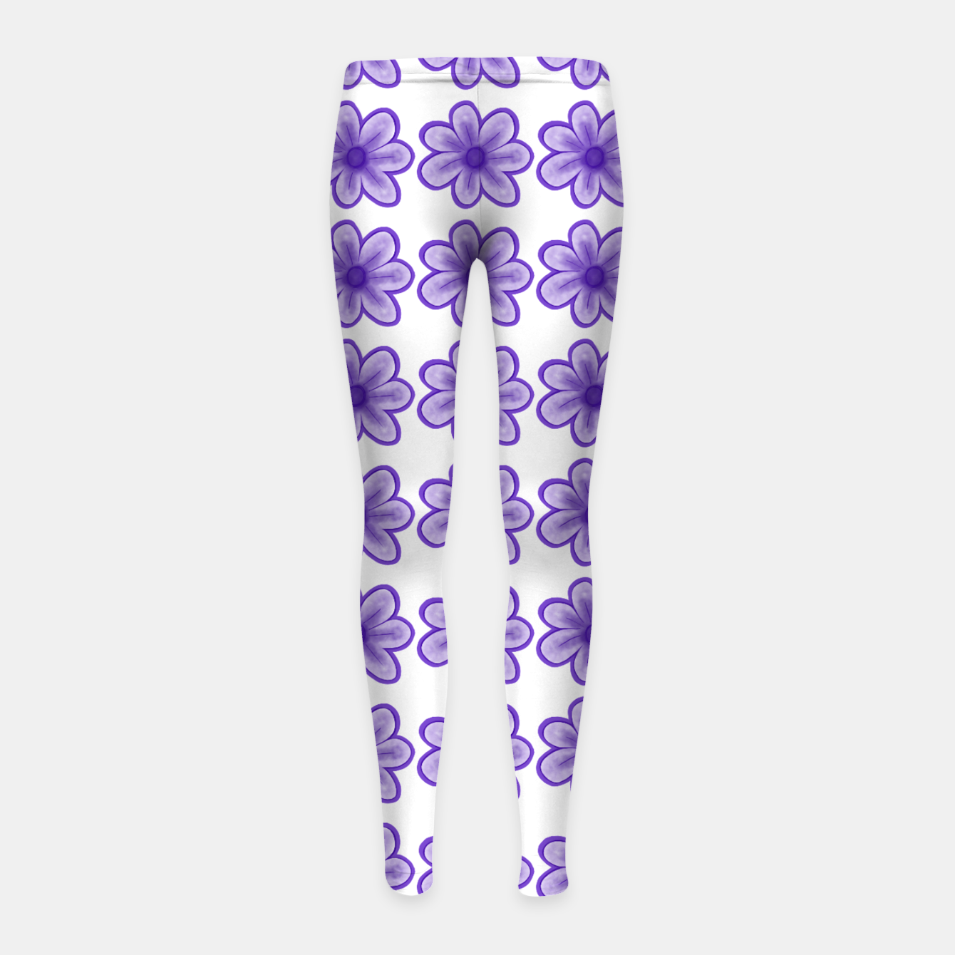 Image of mauve flowers Girl's leggings - Live Heroes
