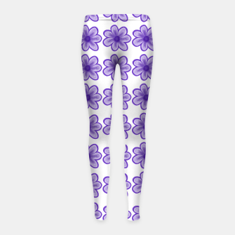 Thumbnail image of mauve flowers Girl's leggings, Live Heroes