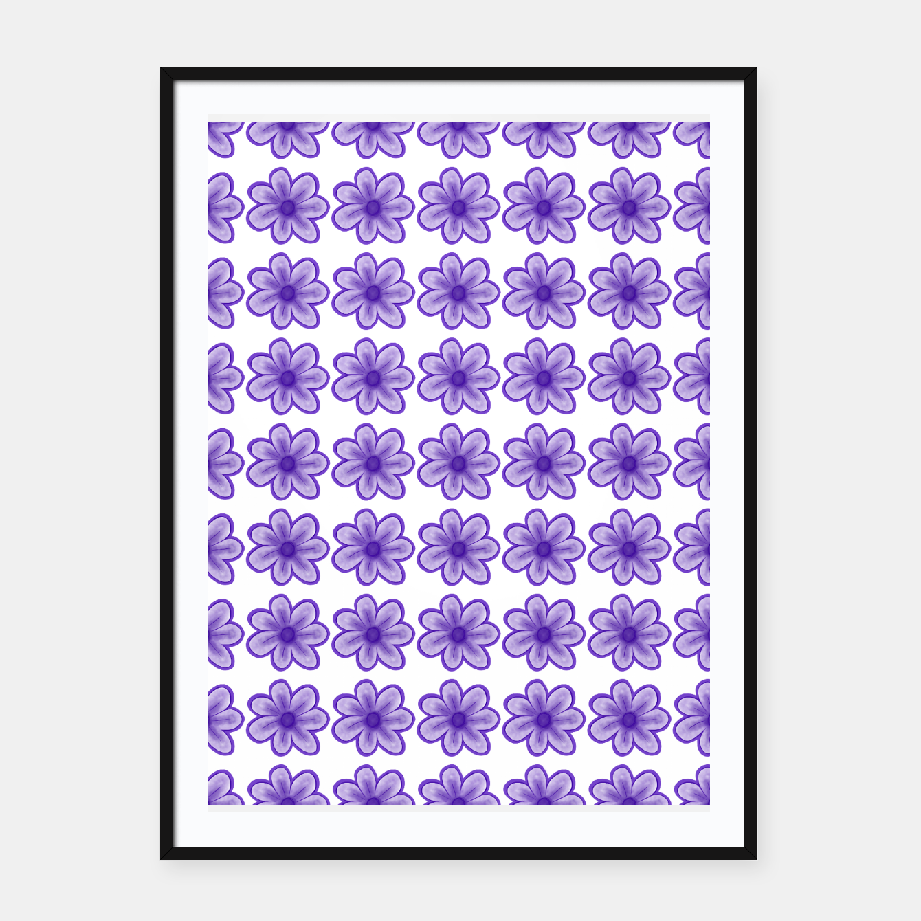 Image of mauve flowers Framed poster - Live Heroes