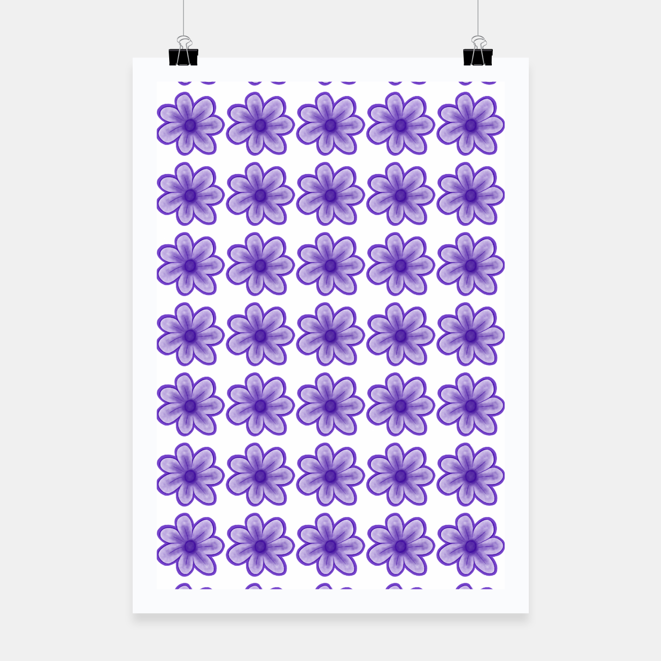 Image of mauve flowers Poster - Live Heroes