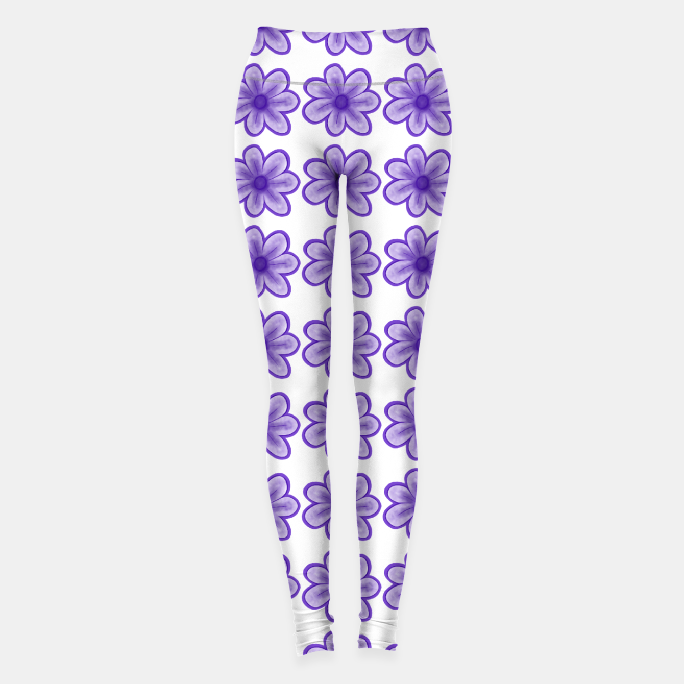 Image of mauve flowers Leggings - Live Heroes