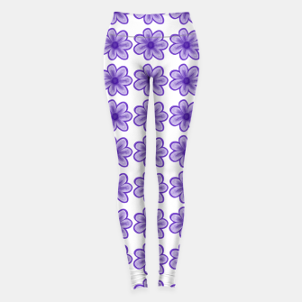 Thumbnail image of mauve flowers Leggings, Live Heroes
