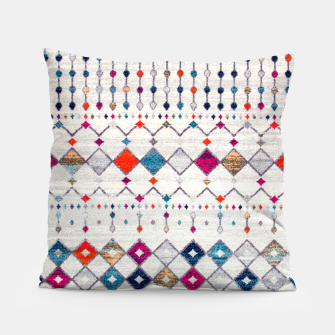 Miniatur Modern Traditional Moroccan Artwork. Pillow, Live Heroes