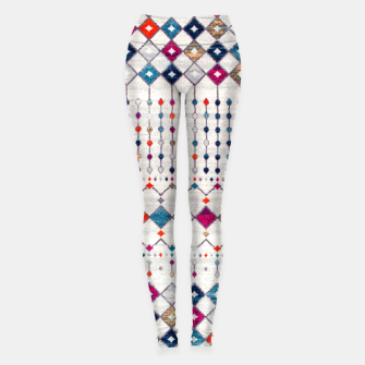 Miniatur Modern Traditional Moroccan Artwork. Leggings, Live Heroes